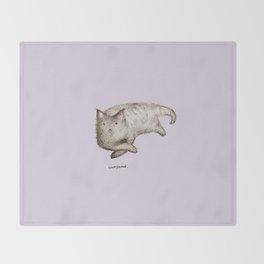 Unimpressed Cat Throw Blanket