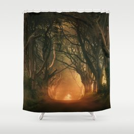 When the day begins... Shower Curtain