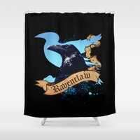 ravenclaw Shower Curtains featuring Ravenclaw by Markusian