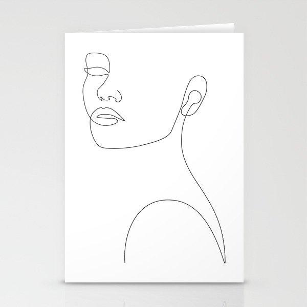 Girly Portrait Stationery Cards