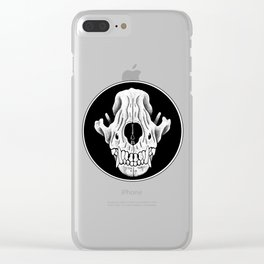 Amos Fortune Circle Skull Logo Clear iPhone Case