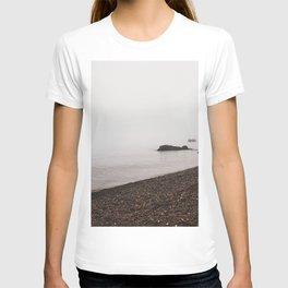 Beach in the Fog-Lake Superior T-shirt