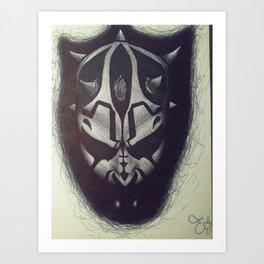 Darth Maul pen drawing Art Print