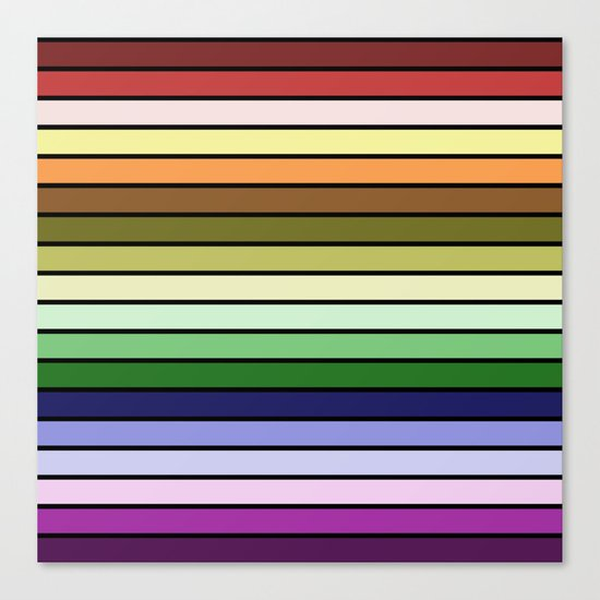 MULTICOLORED STRIPES (abstract pattern) Canvas Print