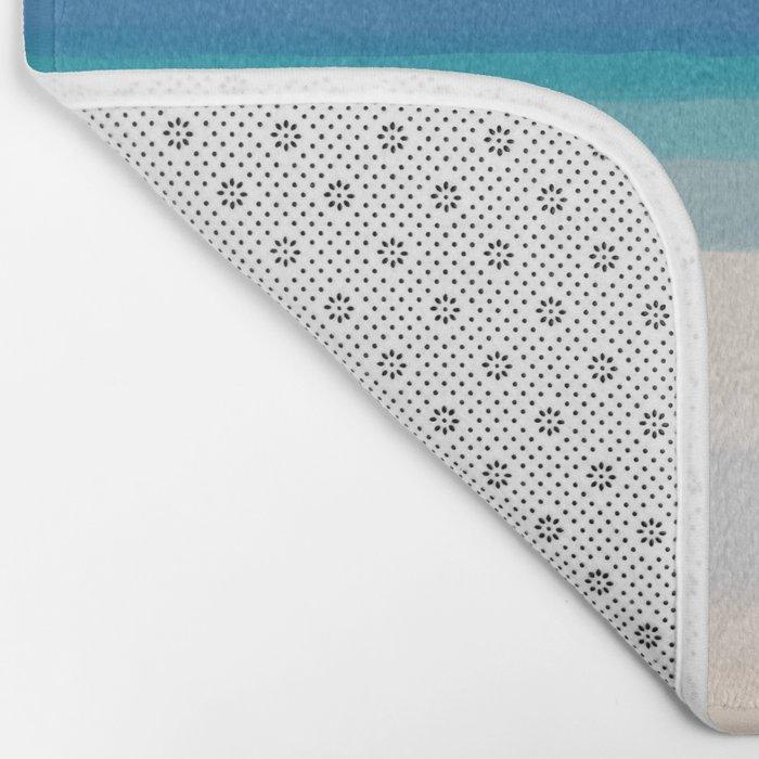 Dreamt Tropical Beach Design Bath Mat