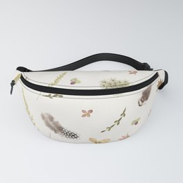 Feathers among Wildflowers Fanny Pack