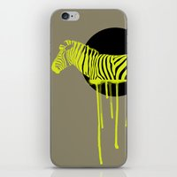 zebra iPhone & iPod Skins featuring Zebra by ministryofpixel
