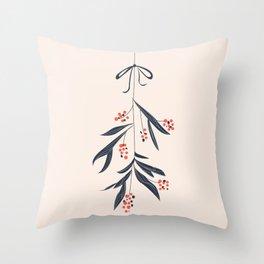 Mistletoe and love Throw Pillow