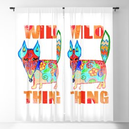 Wild thing - fox Blackout Curtain