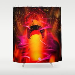 Lighthouse romance Shower Curtain