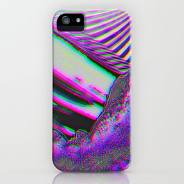 Trippy Pink Glitch Party iPhone Case