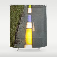 library Shower Curtains featuring Library Line  by Ethna Gillespie
