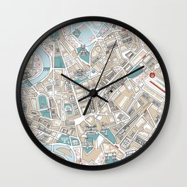 Map of Rome Wall Clock