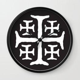 Catholic Jerusalem Cross Wall Clock