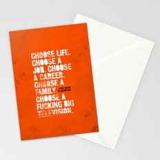 Trainspotting Stationery Cards