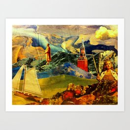 Steering Geo Engineering Art Print