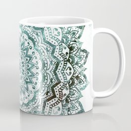 Emerald Jewel Mandala Coffee Mug