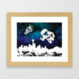 astro in seattle Framed Art Print