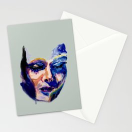 Face in Acrylic Stationery Cards