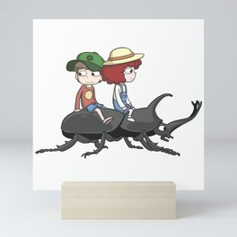 Beetle ride Mini Art Print