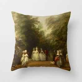 """Thomas Gainsborough """"The Mall in St. James's Park"""" Throw Pillow"""