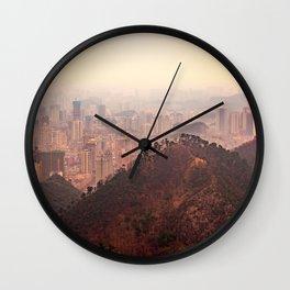 Guiyang City & Mountain Landscape Wall Clock