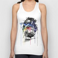 calcifer Tank Tops featuring Howl's Moving Castle by Sandra Ink