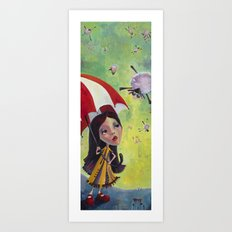 Flailing Sheep Art Print