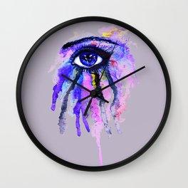 Blue eye splashing Wall Clock