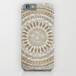 Elegant hand drawn tribal mandala design iPhone Case