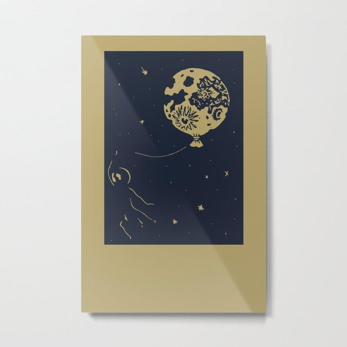 Fly the moon Metal Print