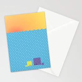Having a whale of a time Stationery Cards