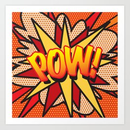 POW Comic Book Pop Art Cool Superhero Graphic Art Print