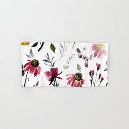 Coneflower Floral|Bold Watercolor Flowers|Renee Davis Hand & Bath Towel