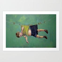 Boy on the Line Art Print