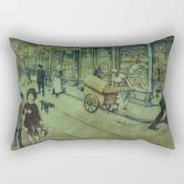 Nostalgia- old poster of a street in Amsterdam Rectangular Pillow