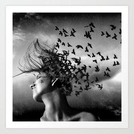 Flock of Crows Art Print