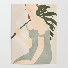 Holding the Monstera Leaf Poster