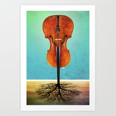 Rooted sound. Art Print