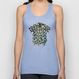 MELTED FLOWERS Unisex Tank Top