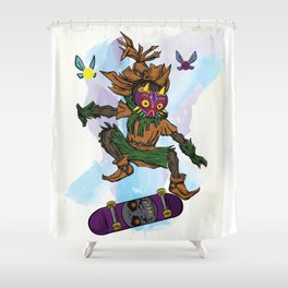 You've Met With A Gnarly Fate, Haven't You? Shower Curtain