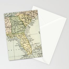 Vintage Map of the South Of The United States Of America Stationery Cards