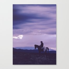 Southwestern Cowboy on Horse Canvas Print