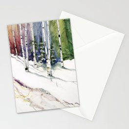 4 Season Watercolor Collection - Winter Stationery Cards