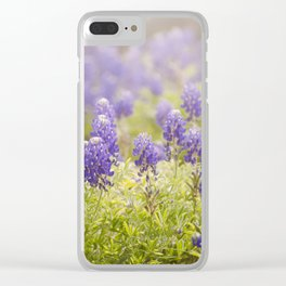 Texas Bluebonnets Clear iPhone Case