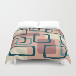 Mid Century Modern Abstract Squares Pattern 445 Duvet Cover