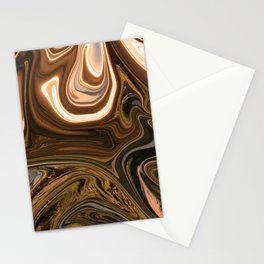 Gold Liquid Marble Swirling Pattern Texture Artwork #2 Stationery Cards