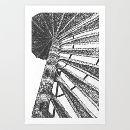 Cape Henry Lighthouse Spiral Stairs Art Print