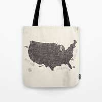 usa Tote Bags featuring USA by Mike Koubou