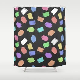 COLORFUL BRUSH  Shower Curtain